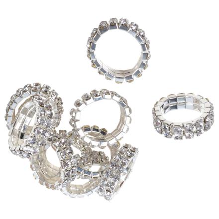 flätningsband 10 st dubbel rad crystal 199 kr - Flätningsband Crystal